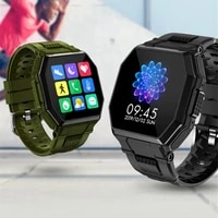 smart watch bluetooth compatible call mens full touch sports fitness tracker blood pressure heart rate smartwatch music control