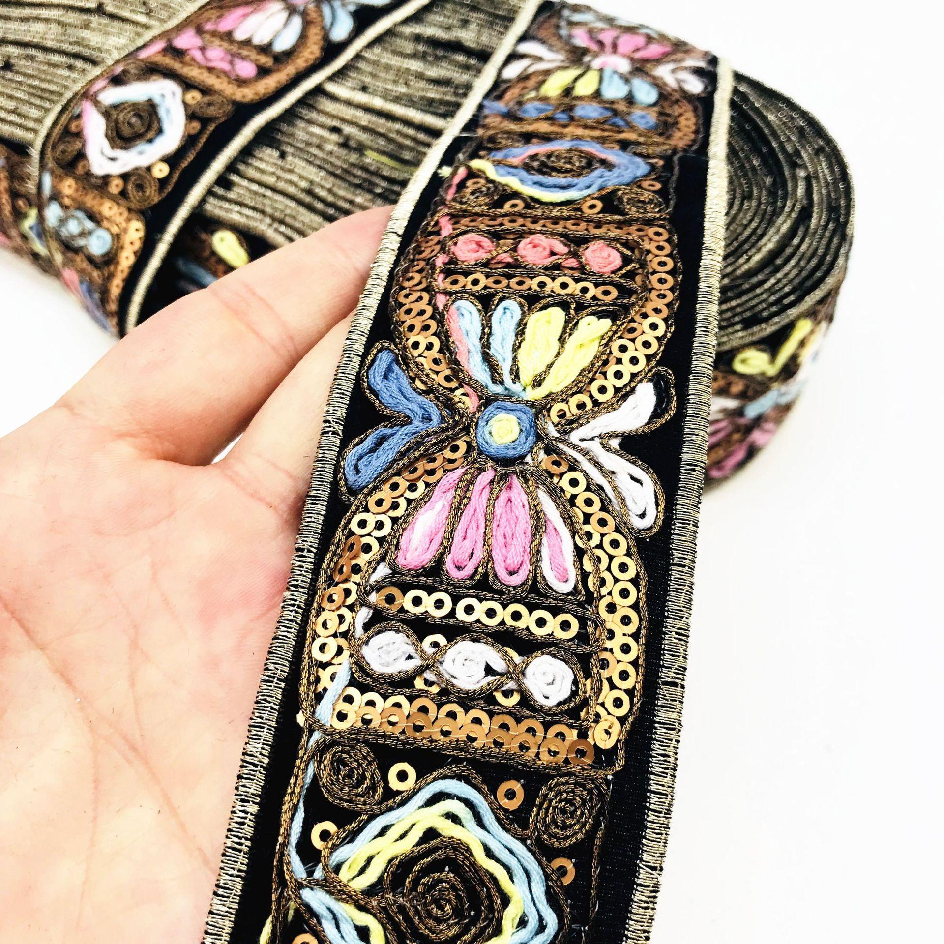 Spitze Trim Dekoration Vintage Stoff Band Nähen Handwerk Zubehör für Schuhe Tasche Verschönerung 1Yards