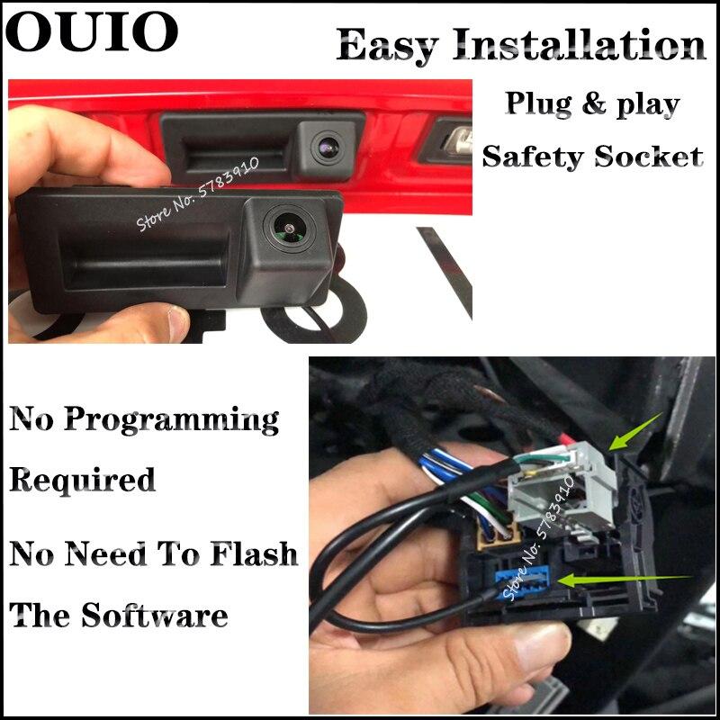 Plug & Play For Audi A3 8V S3 A4 B9 2016 2017 2018 2019 2020 Original MIB Screen Car Trunk Handle Camera Backup Rear View camera