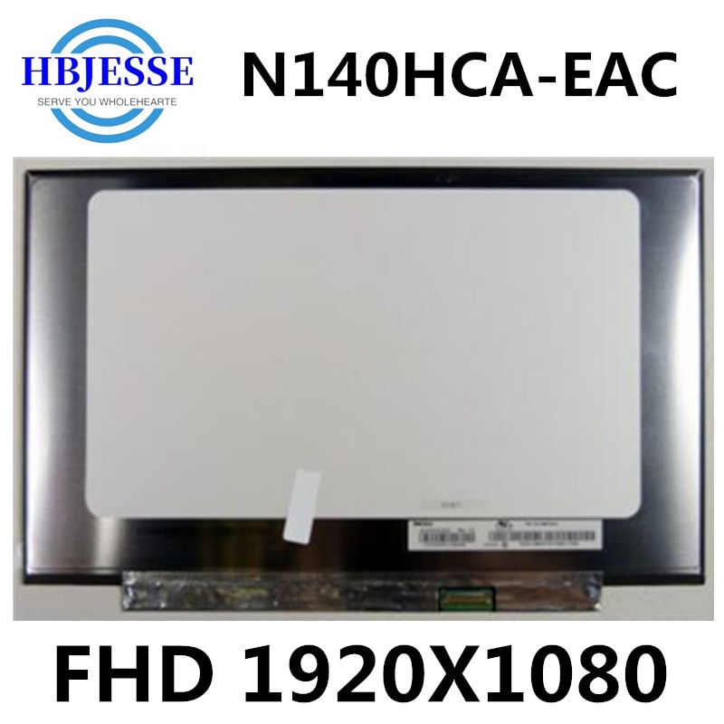 "Original 14.0 ""N140HCA-EAC modelos compatíveis led display lcd ips fhd 1920x1080 substituição 30pin painel para portátil"