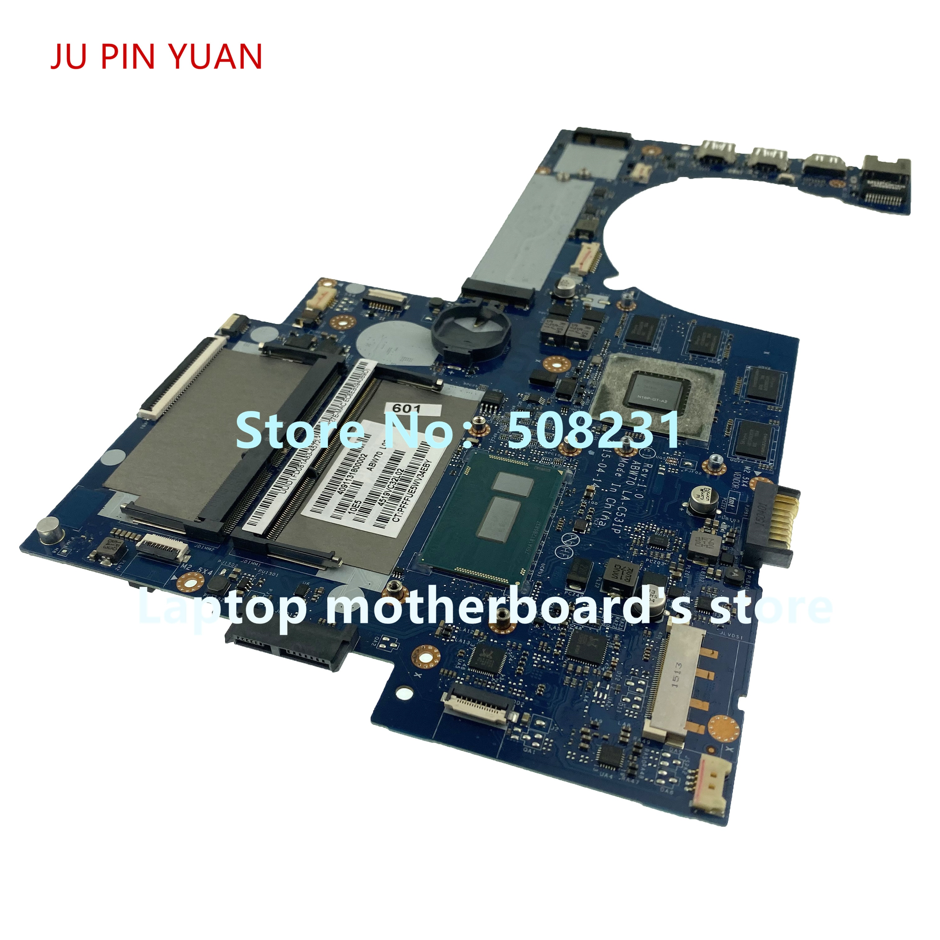 JU PIN YUAN 813682-001 813682-501 813682-601 LA-C531P لأجهزة الكمبيوتر المحمول HP 17T-N M7-N سلسلة اللوحة الأم I7-5500 وحدة المعالجة المركزية 100% تم اختبارها بالكامل