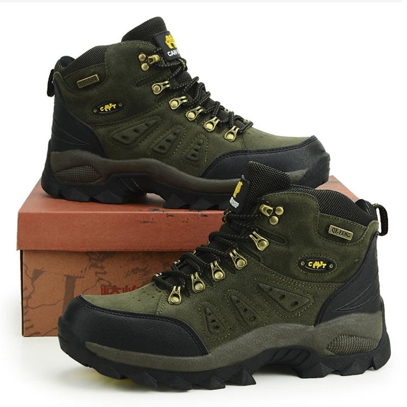 Outdoor Waterproof Hiking Boots Men Women Winter Shoes Walking Climbing Hiking Shoes Mountain Sport
