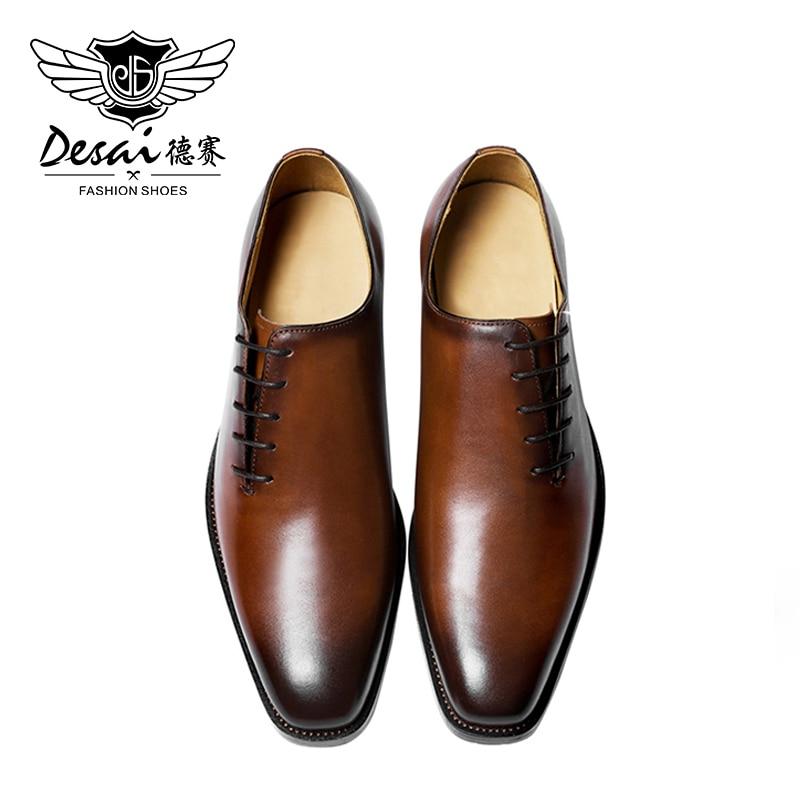 Desai حذاء رجالي جلد طبيعي أحمر تسولي أحذية للرجال الأعمال العلامة التجارية الأحذية حذاء رجالي كاجوال 2020 اليدوية المحدودة