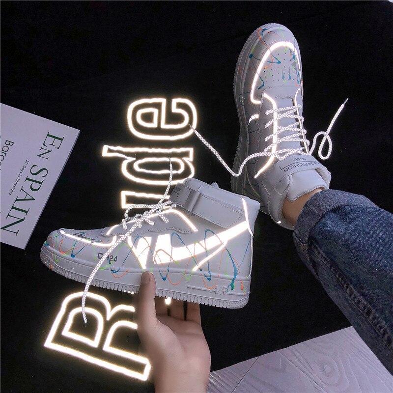 Zapatillas de deporte de aire para hombre y mujer... botas altas reflectantes...