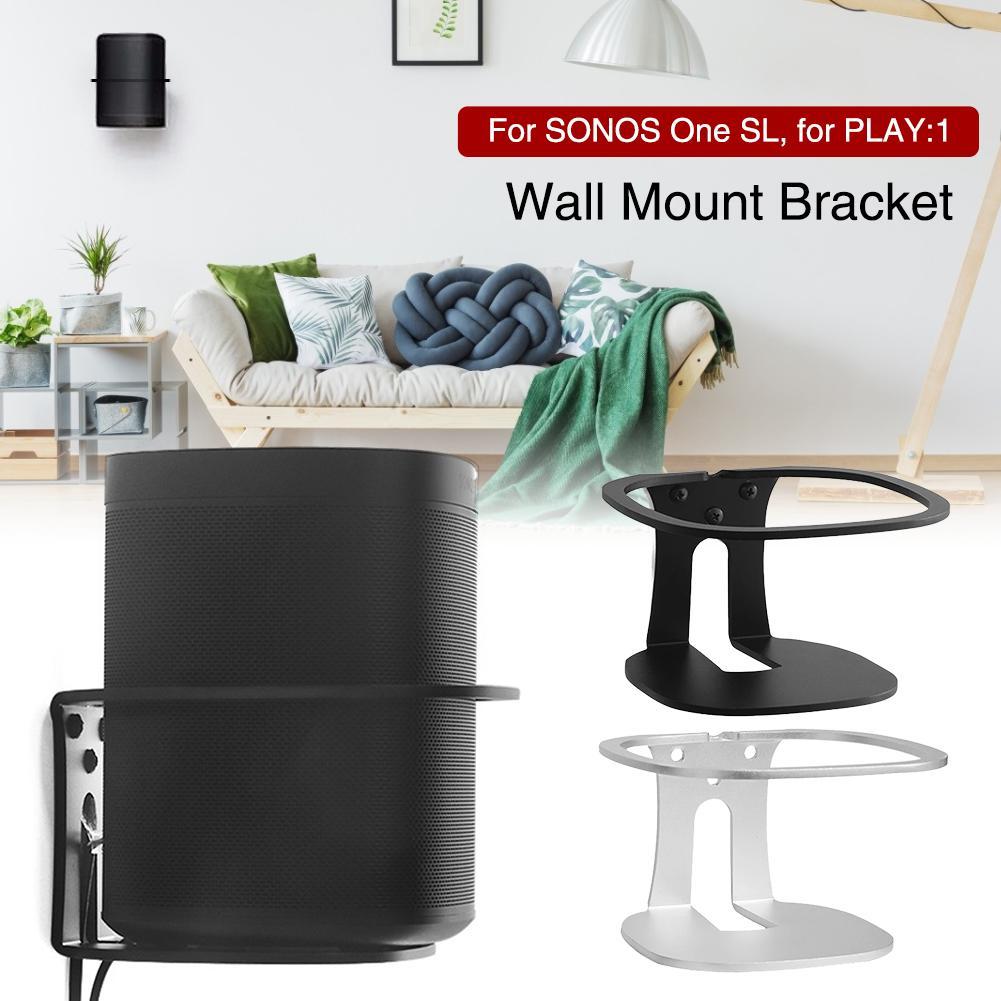 Soporte de montaje en pared Metal soporte de montaje en pared para SONOS One SL/PLAY1 altavoz negro resistente hecho en Metal soporte de montaje