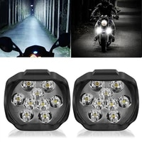 motorcycle headlight 9 led 6w dc12v super bright spot white work light bicycles 1500lm