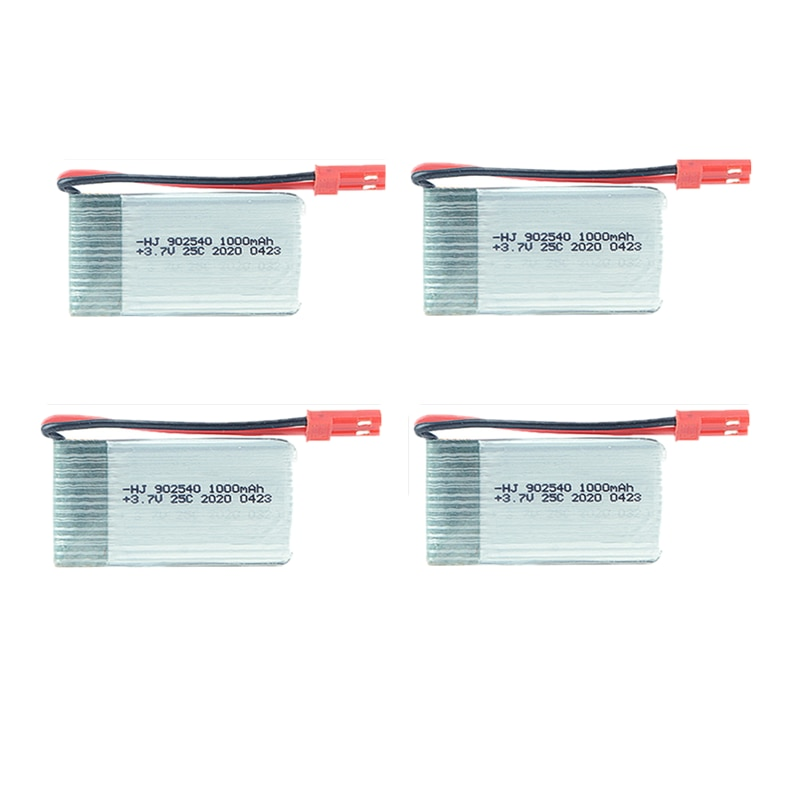 1S 3.7V 1000mah Lipo Battery 25C JST Plug Connector for Radiolink F110S Mini RC Drone Quadcopter Spare Parts