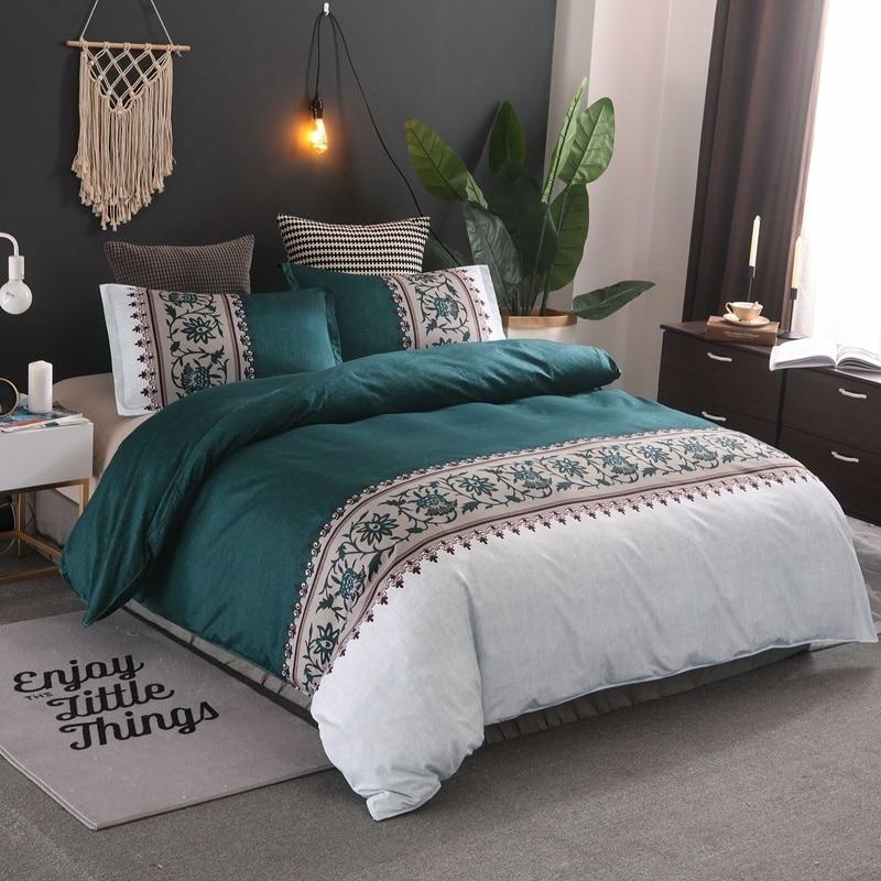 حاف غطاء الوسادة كسوة وسائد للزينة مجاميع راحة الفراش مجموعة من المخدة لحاف يغطي بطانية سرير منقوشة المفارش