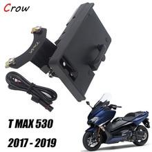 Support de navigation de moto pour smartphone, panneau USB pour Yamaha TMAX 530 T MAX 530, 2017, 2018, 2019