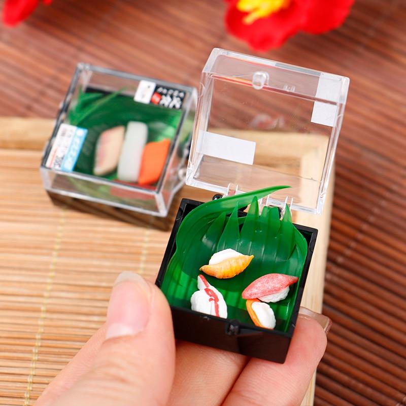 1 коробка в масштабе 1/6 и 1/12, украшение для кукольного домика, японский бутик суши, прозрачная коробка бенто, мини аксессуары, детские игрушки...