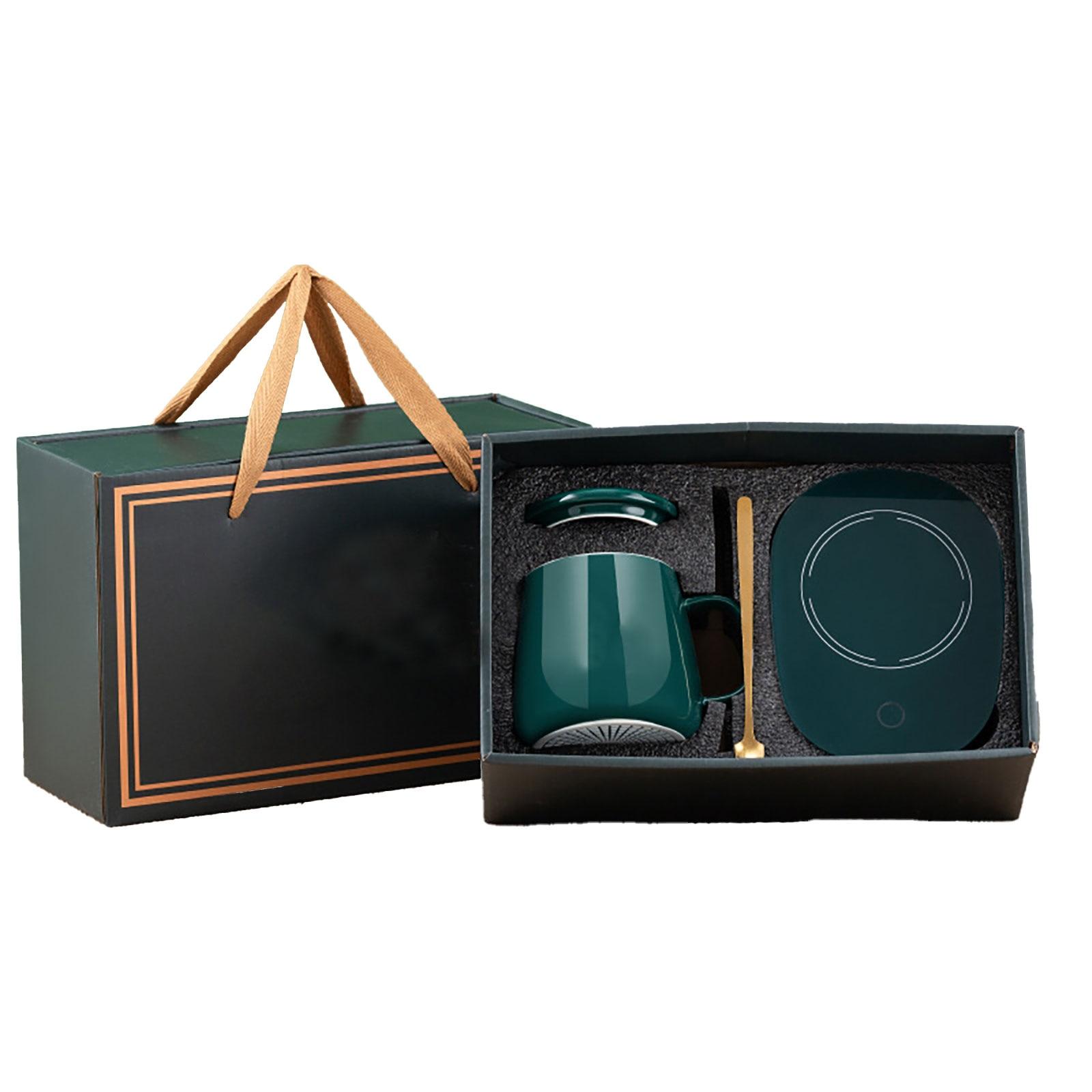 كوب كهربائي دفئا مجموعة المحمولة سطح المكتب مسند للكوب وسادة سخان يسهل حملها ل حليب الشاي القهوة