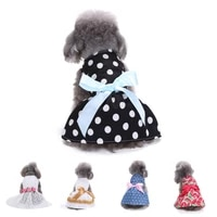 dog dresses pet princess skirts with ribbon bowknot %e2%80%8bsundress for small dogs cats pet apparel clothes %e2%80%8bdoggie costume
