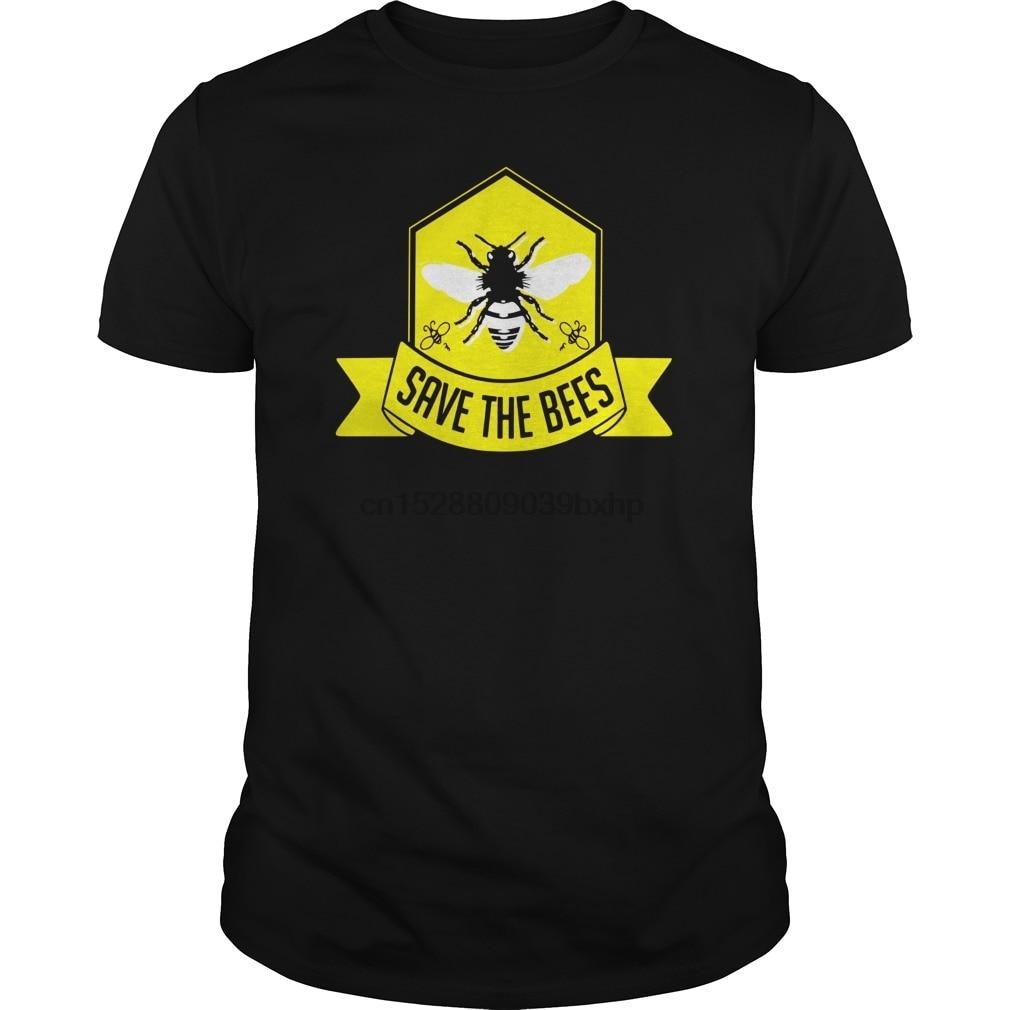Hombres camiseta Save the Bees camiseta apicultura apicultor ropa genial mujeres camiseta camisetas top