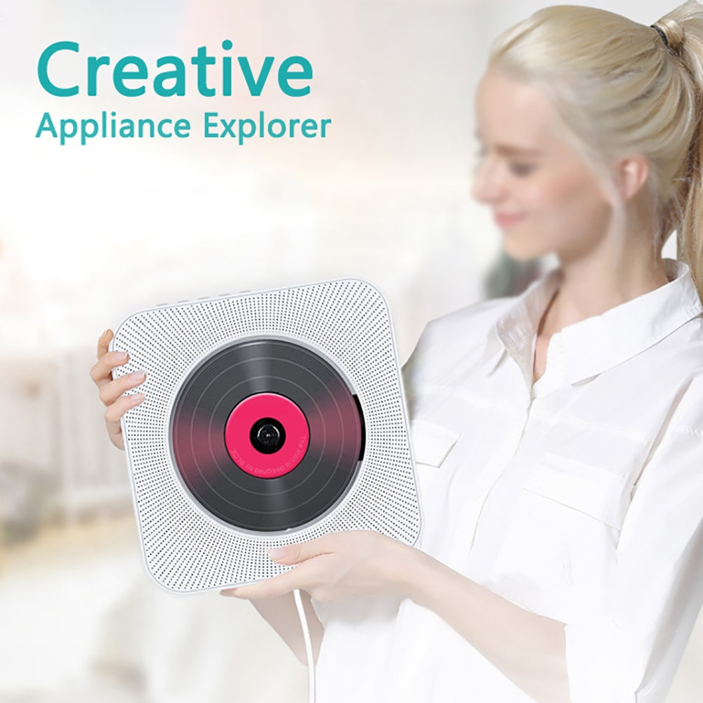 Wall Mounted CD Player Bluetooth Surround Sound FM Radio USB MP3 Disk Music HiFi Player Boombox Pull Switch with Remote Control enlarge