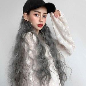 Cosplay Wig Cap Women Headwear Girls Hair Sun Hat Curls Hair Novelty Baseball Cap Wig Cap cosplay accessiories 2020 hot