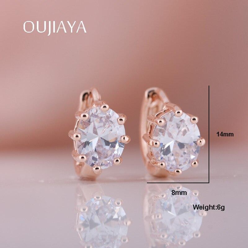 OUJIAYA Trendy Elegant Natural Zircon Girls Earrings Personality Drop Earrings  Accessories Statement Jewelry Gift For Women A68