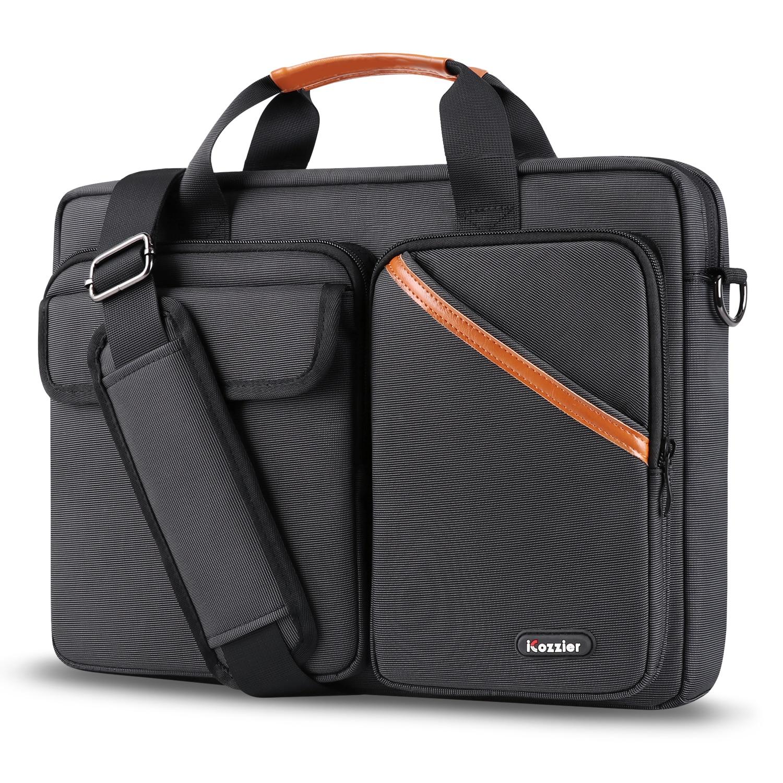 ICozzier 15,6 pulgadas Multi-Bolsillo portátil manga maletín de gran capacidad bolso de hombro accesorios electrónicos organizador caso