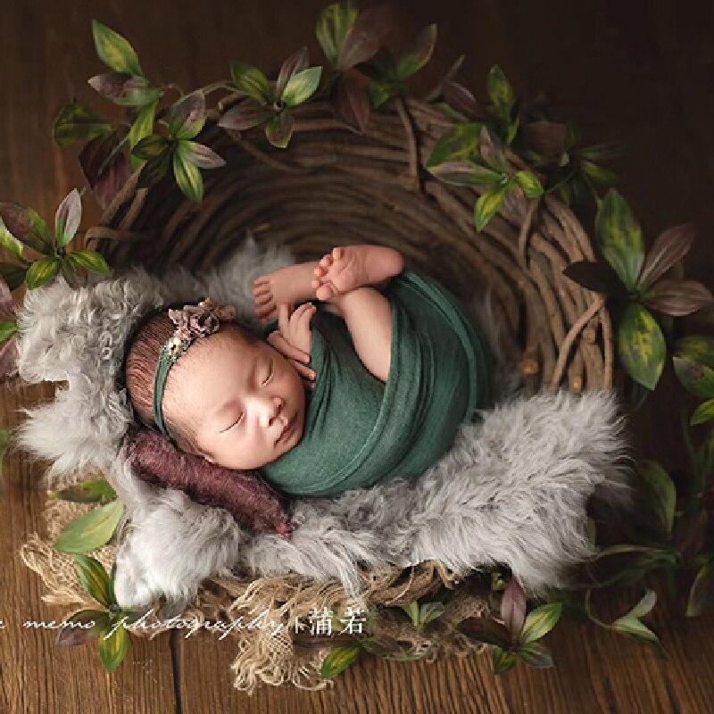 الوليد التصوير الدعائم للطفل اليدوية الروطان الرجعية Posing سرير استوديو الملحقات يطلق النار الرضع صور الدعائم