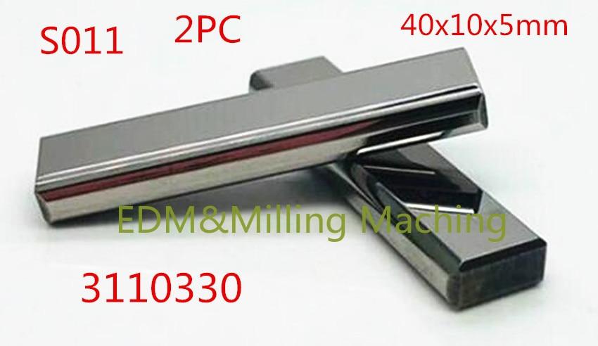 1 مجموعة (2 قطعة) سلك إدم آلة S011 3110330 التنغستن كربيد وحدة تغذية بالطاقة الاتصال 40x10x5 مللي متر ل نك سوديك الخدمة