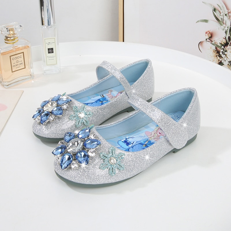 Princess shoes baby girls shoes spring and autumn leather shoes soft bottom little girl 3-12 years Kids crystal shoes flash