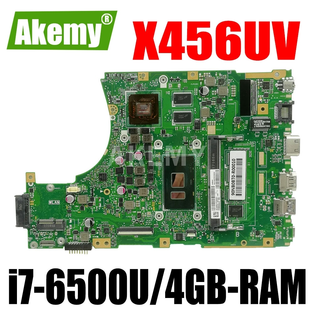 ERILLES A456U لـ ASUS X456UJ X456UVK X456UB F456U X456UV اللوحة الأم للكمبيوتر المحمول X456UQK اختبار اللوحة الرئيسية OK i7-6500u وحدة المعالجة المركزية DDR4-4GB-RAM