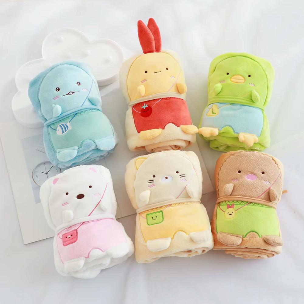 1 шт., милое мультяшное одеяло Sumikko Gurashi, одеяло, одеяло, кондиционер, детское одеяло, маленькое одеяло