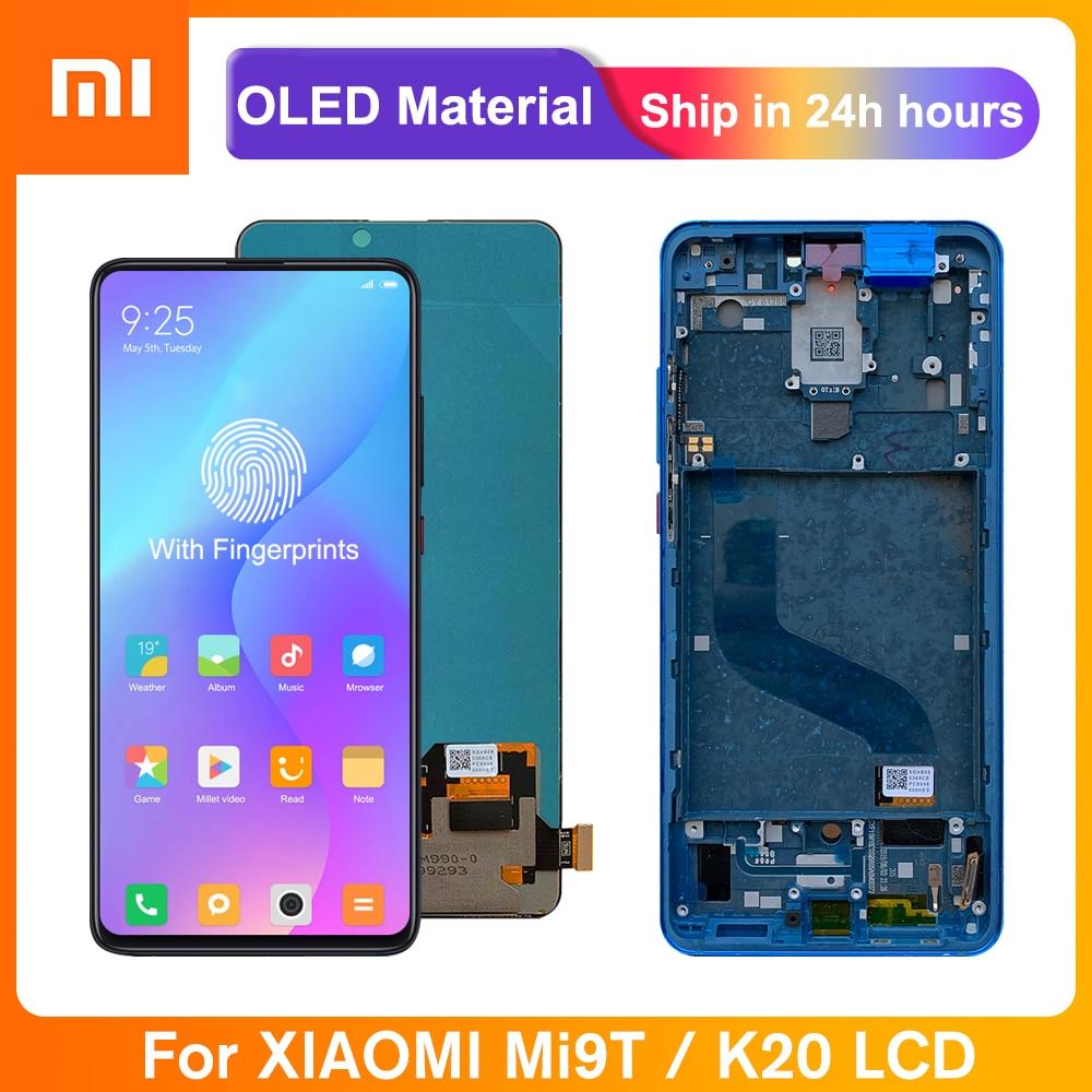 شاشة 6.39 بوصة فائقة Amoled لهاتف شاومي Mi 9T Pro / Mi 9T شاشة LCD تعمل باللمس مجموعة رقمية لريدمي K20 / K20 Pro