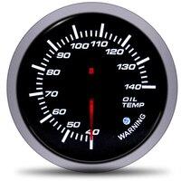 Car 12V 60mm Universal Oil Temp Gauge Pointer oil meter With temperature sensor indicadores de auto Racing for motorcycle moto