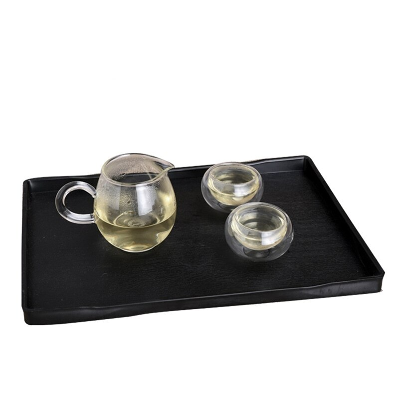 1Pcs ABS Platics Tray Home Daily Tea Fruits Sundry Goods Storage Tray Eco-Friendly Chinese Tea Tray Snack Food Container