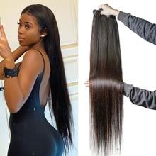 30 Inches Bone Straight Human Hair Bundles for Black Women 3/4 Pcs / Lot Non Remy Hair Human Hair Wa