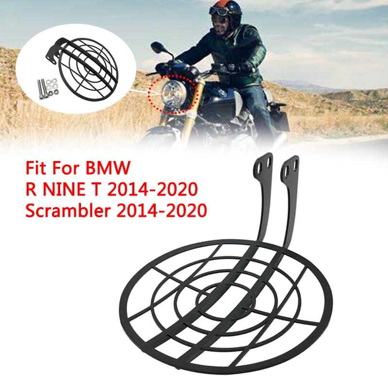 Motocicleta farol cabeça lâmpada luz grille guarda capa protetor para bmw r nove t 2014-2020 r ninet scrambler 2014 15 16 17-20