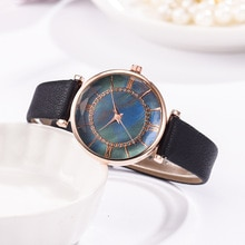 Fashion Casual Rhinestone Ladies Watches Leather Band Quartz Dress Wristwatch Women Bracelet Hot Sal