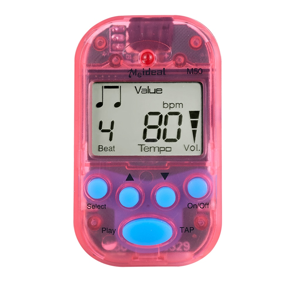 Metrónomo profesional M50 Digital LCD Clip-on Tuner metrónomo para guitarra Piano Mini...