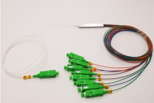 5 قطعة/الوحدة PLC البصرية الفاصل SC APC 1X8 FTTH الألياف البصرية الخائن مقرنة البصرية المفردة البسيط مايكرو الصلب أنبوب الأنابيب