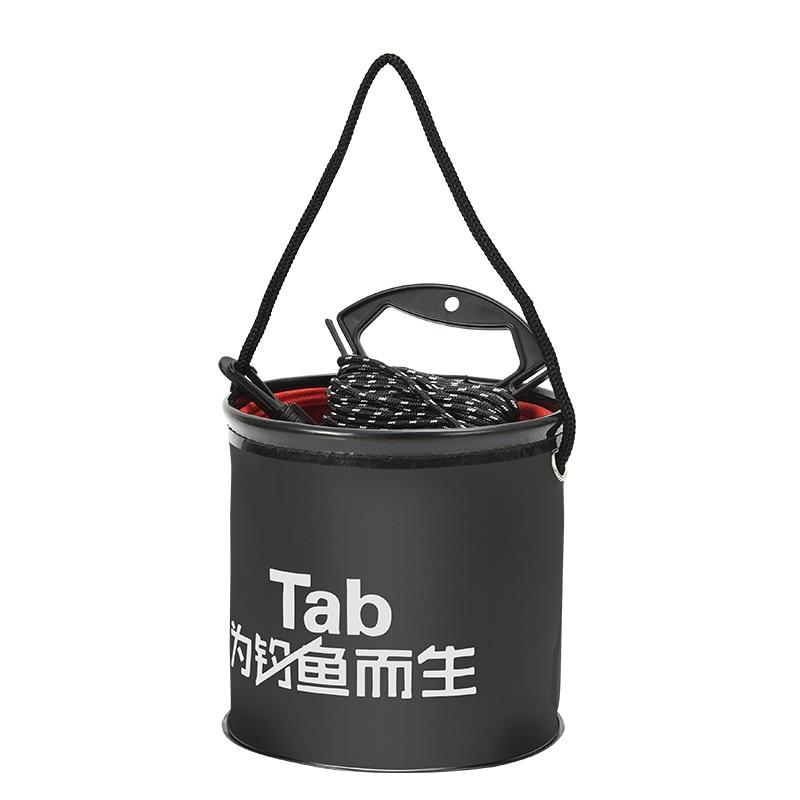 Thicken EVA Outdoor Folding 5L Fishing Bucket Live Fish Box Car Wash Bathroom Kitchen Bucket Fishing Bait Buckets Tackle Tools