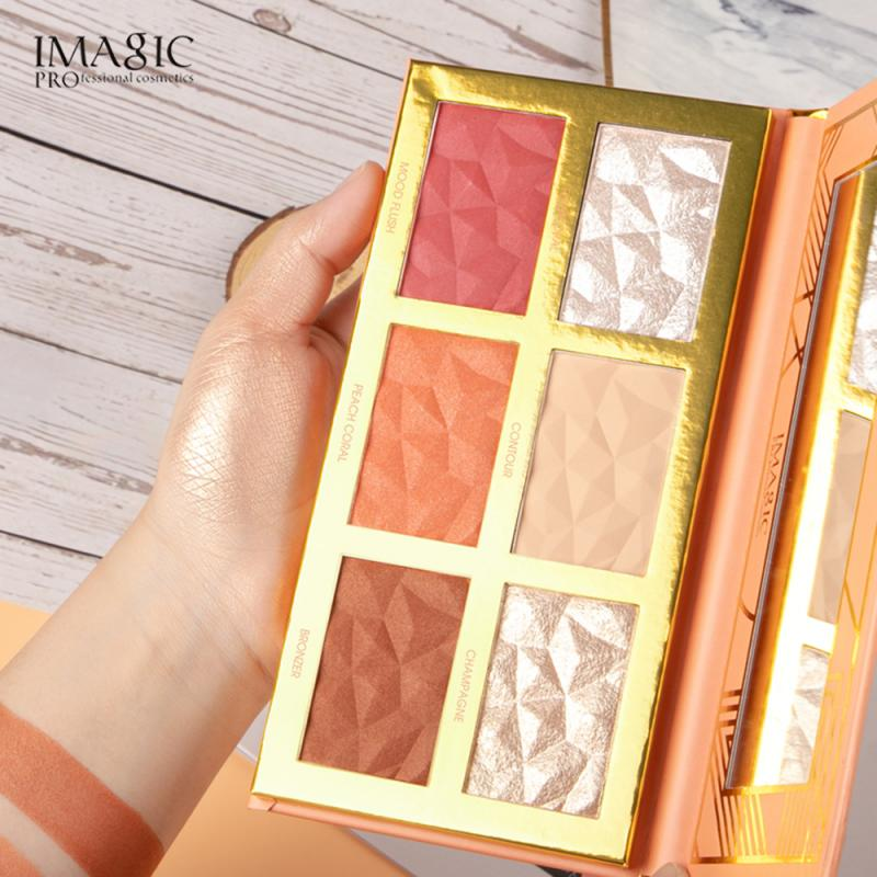 Bronzers Highlighters 6 Colors Highlight Blush Repair Face Brighten Blush Repair Shadow Face Easy to wear