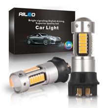 AILEO 2x aucune erreur OBC Canbus blanc LED PW24W PWY24W ampoules pour Audi BMW VW clignotant DRL lumière 6000k 3000k jaune 12V 600LM