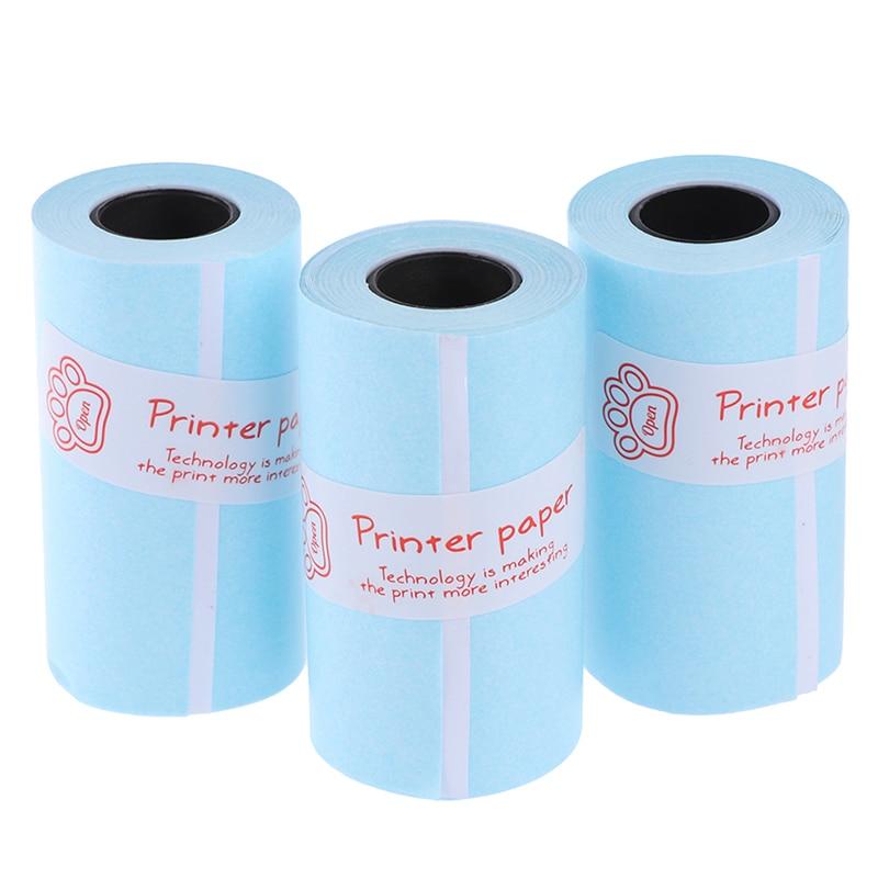 3 рулонов бумага для печати наклеек Фотобумага для мини Карманный фотопринтер для Paperang P1 P2 Билл получения документов
