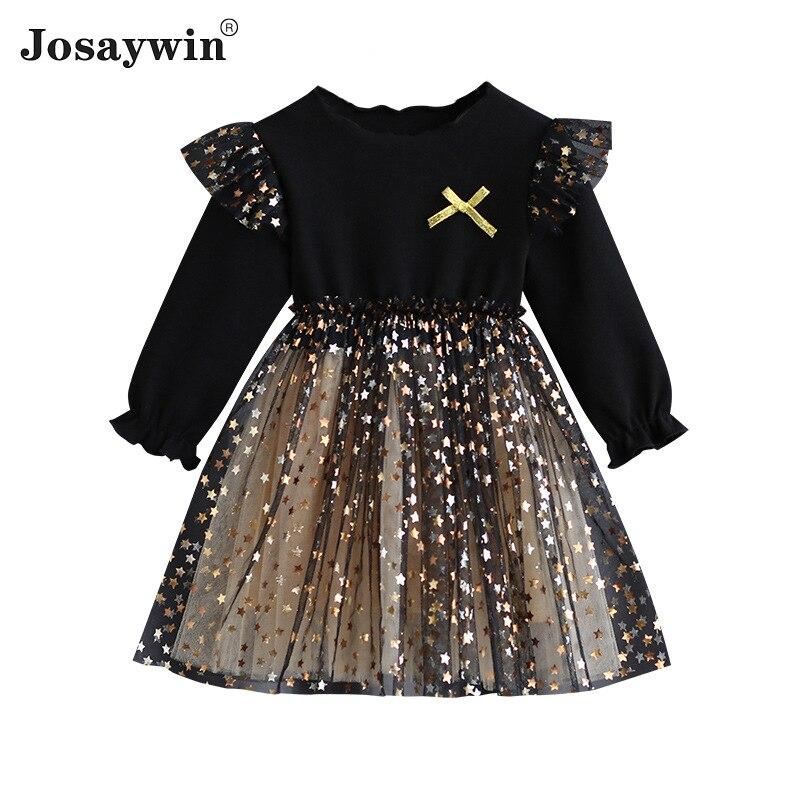 Children Clothes Dress for Girls kids Baby Autumn Winter Long Sleeve Party Dresses Fluffy Mesh Princess Vestidos