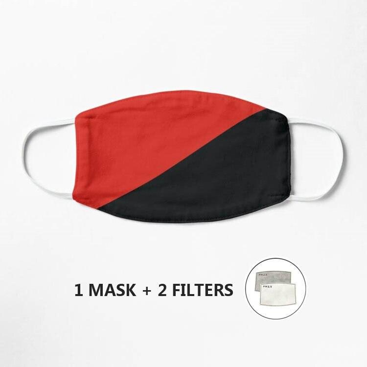 Anarchy-máscara con bandera lavable y reutilizable, máscara transpirable a prueba de polvo