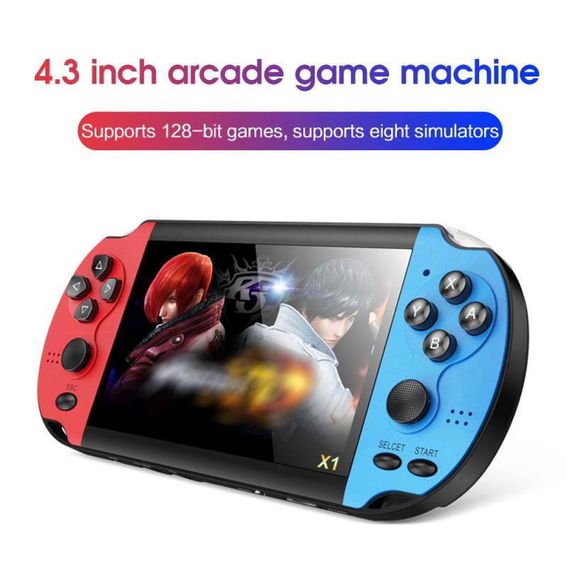 Consola de juegos portátil, pantalla de 4,3 pulgadas, nostálgica, 8G, doble balancín,...