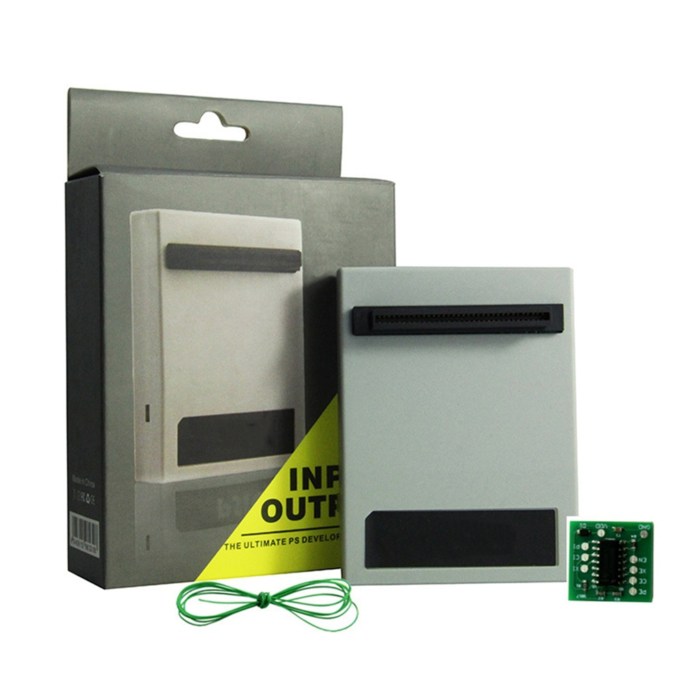 Für PS1 Dicken Gaming Konsole PSIO CD-ROM Freies Optische Stick Simulator Spiel Kartenleser mit Switch Board für Sony PlayStation1