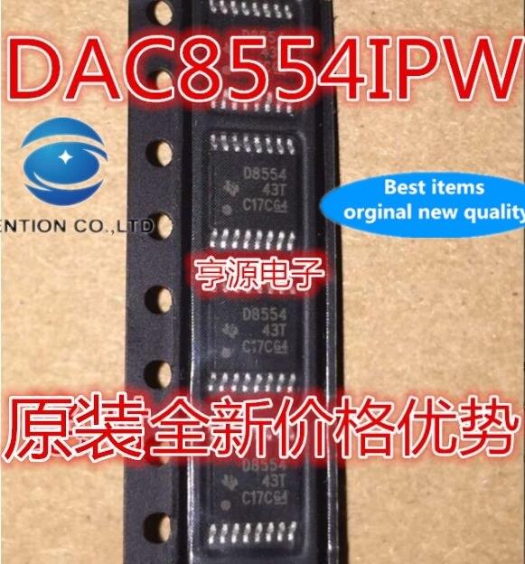 5pcs real photo 100% new and orginal  DAC8554IPW DAC8554 D8554 TSSOP - 16 d/a converters