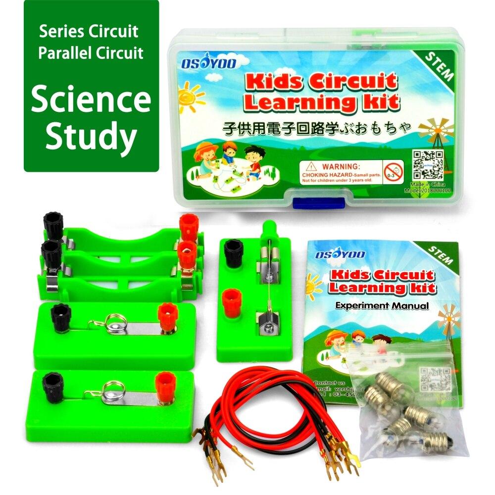 OSOYOO Circuit électrique Circuit parallèle Science équipement déducation physique pour le primaire premier cycle du secondaire