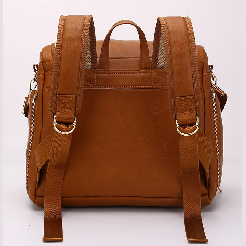 Waterproof PU Leather Baby Diaper Bag Backpack Organizer Bags For Mummy Maternity Baby Bag For Mom Bags Stroller Diaper Bag enlarge