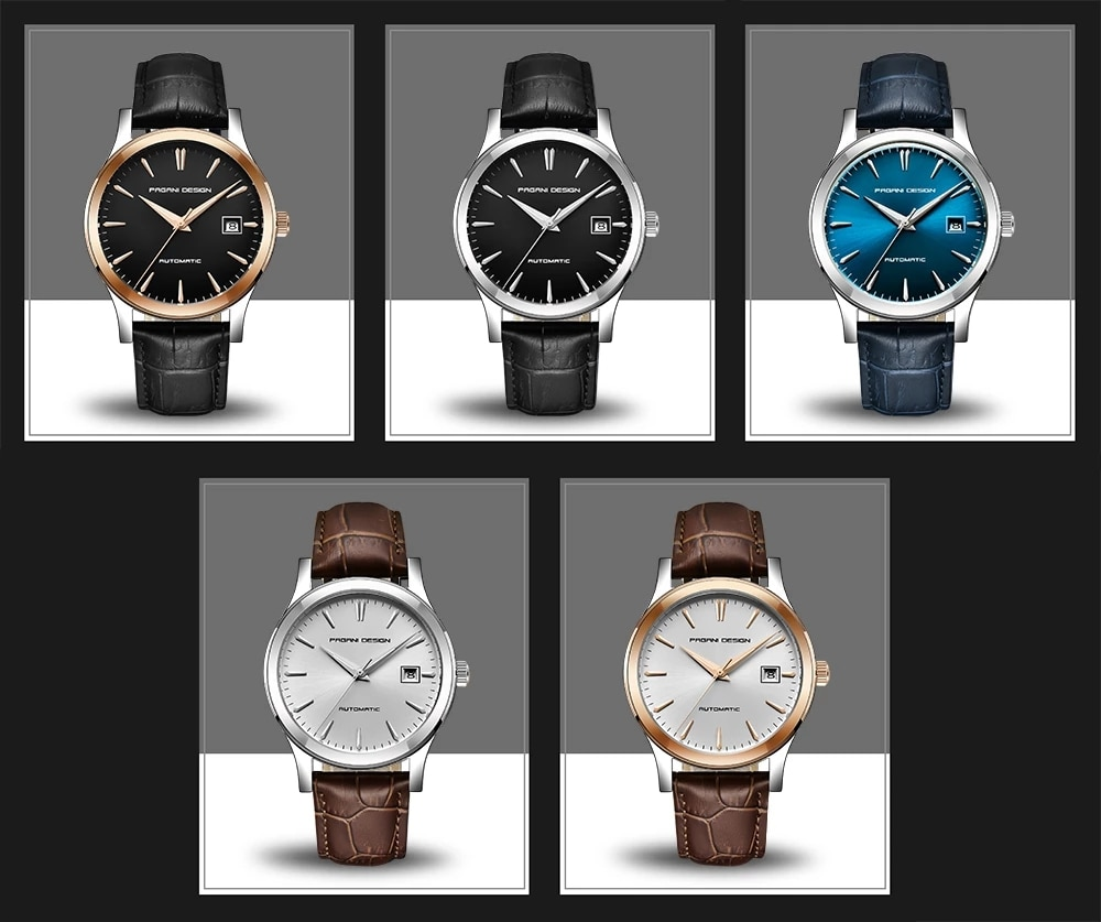 PAGANI Design 2021 New Classic Male Mechanical Watches Business Water Proof Watch Luxury Brand Genuine Leather Automatic Watch enlarge