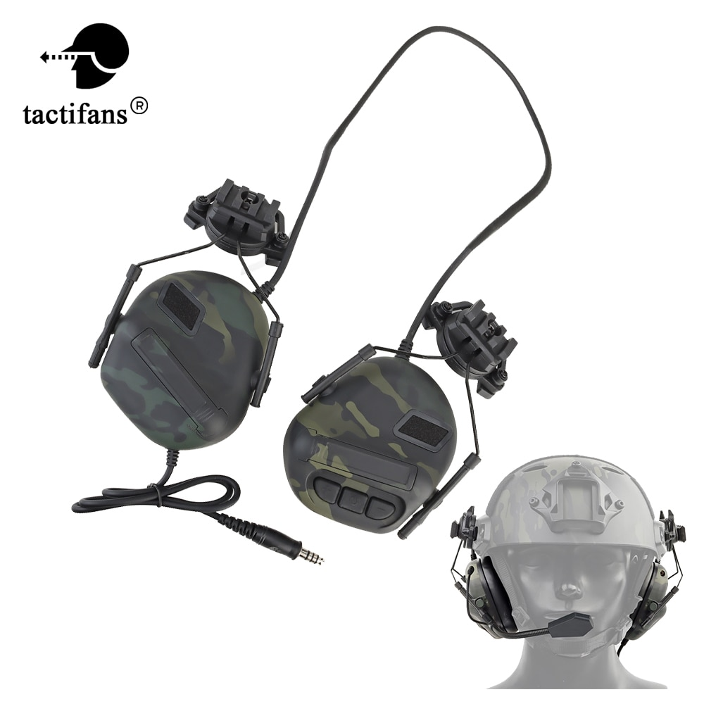 Tactical Headset Hunting Shooting Helmets Active Noise Reduction Headphones For Mini Phone/TCI/ U94/TCI PTT Airsoft Paintball