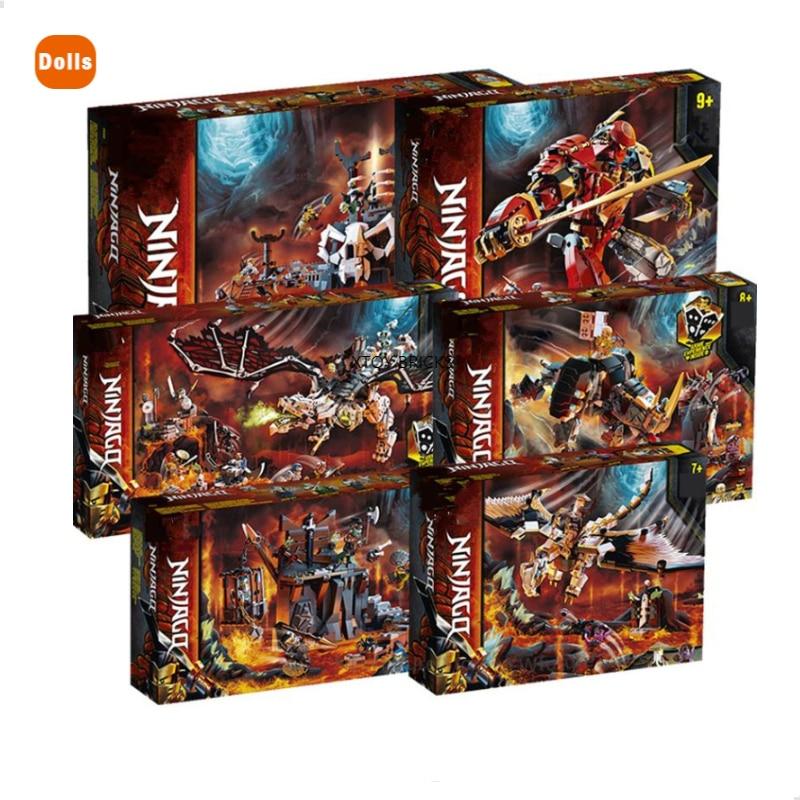 AliExpress - 2020 Skull Sorcerer's Dungeon and Wu's Battle Dragon Fire Stone Mech Mino Creature Season 12 13 Fly Building Blocks Bricks