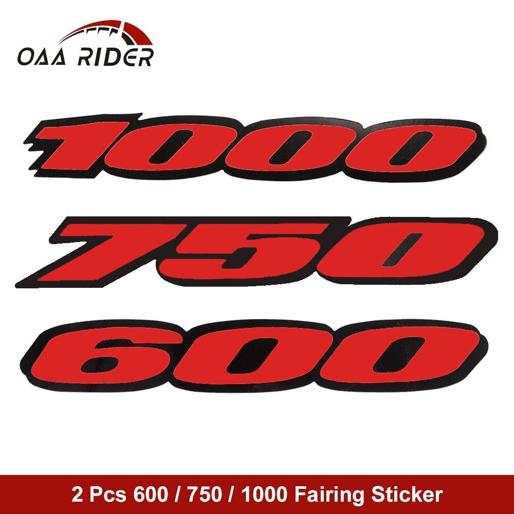 Carenagem da motocicleta cauda lado vermelho adesivo decalque emblema para honda suzuki kawasaki yamaha GSX-R gsxr600 750 1000 corrida adesivos