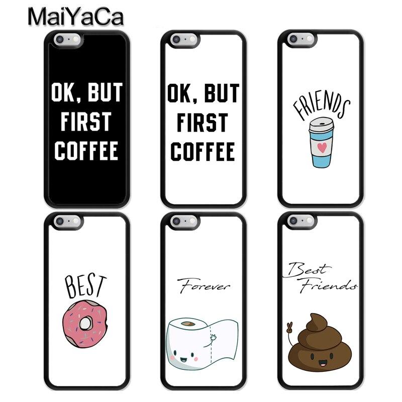 MaiYaCa, carcasa a juego BFF Best Friends Forever para iPhone 11 Pro Max X XR XS MAX SE 2020 6S 8 7 Plus, 5S, funda trasera